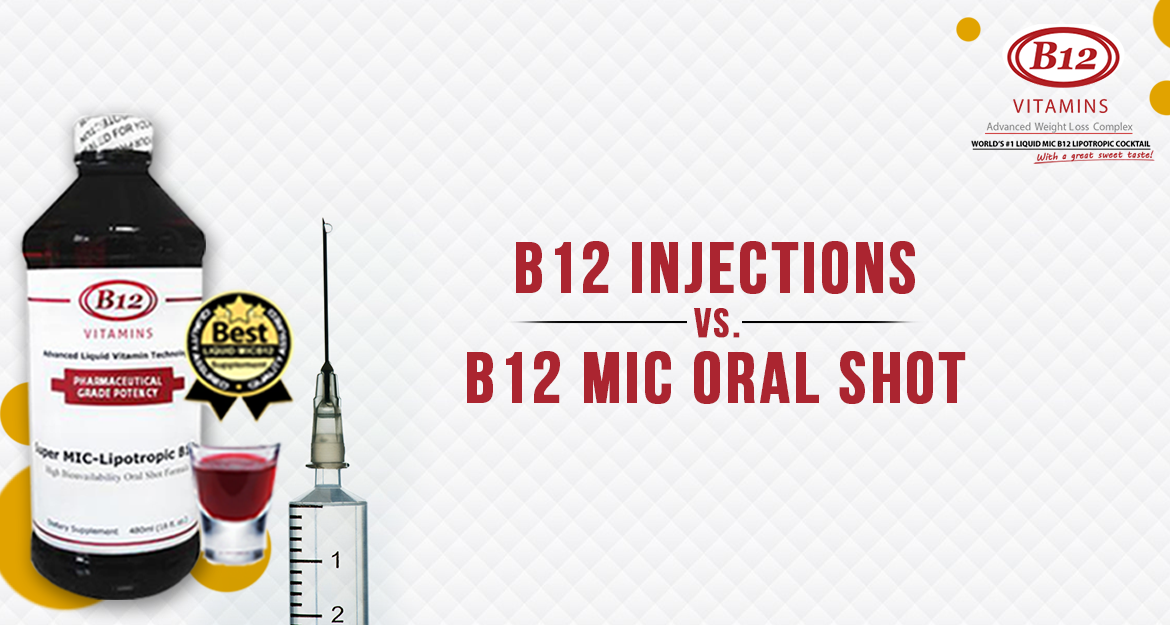 B12 Injections Vs. B12 MIC Oral Shot